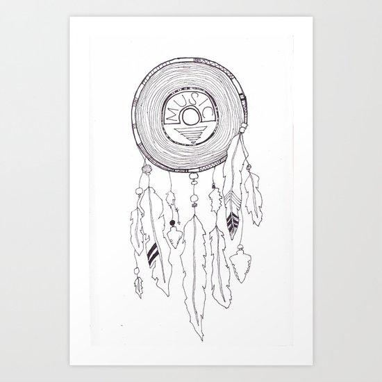 music catcher Art Print