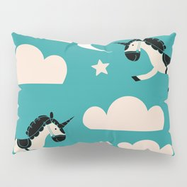 Unicorn Teal Pillow Sham