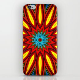 Bright Multi Color Mandala iPhone Skin