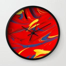 Paint Spill 2 Wall Clock