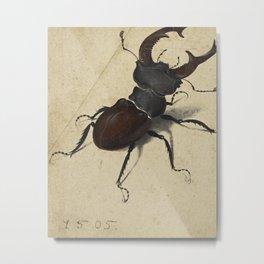 Stag Beetle - Albrecht Durer Metal Print