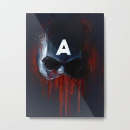 Cap Helmet Metal Print