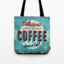 Vintage Style Coffee Sign Tote Bag