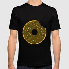 Chocolate Donut MEDIUM Black Mens Fitted Tee