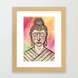 The Mindful Buddha Framed Art Print