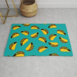 Flock of Gerrys Teal Taco Print Rug