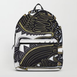 decorative surreal dragon Backpack