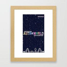 ASTROWORLD TRAVIS SCOT Framed Art Print