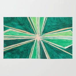 Green Cross Rug