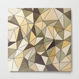 Abstract geometric patter.Triangle background 2 Metal Print