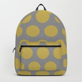 Dots in grey and yellow Backpack