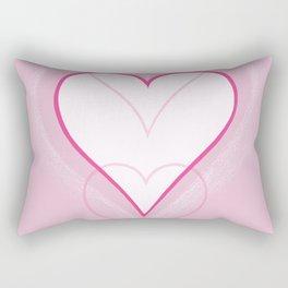 Three Hearts Rectangular Pillow