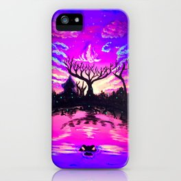 Swamp and Skull iPhone Case