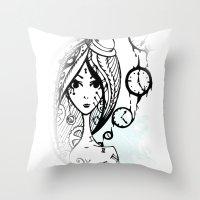 watch Throw Pillows featuring watch by DanilaTrubarova