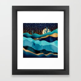 Indigo Desert Night Framed Art Print