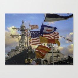 Full Flagged Ship Canvas Print