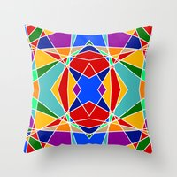 cracked Throw Pillows featuring Cracked by MarkStantonDesign