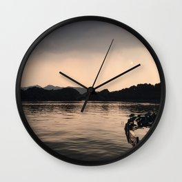 PERSPECTIVE // Sunset over West Lake, Hangzhou Wall Clock