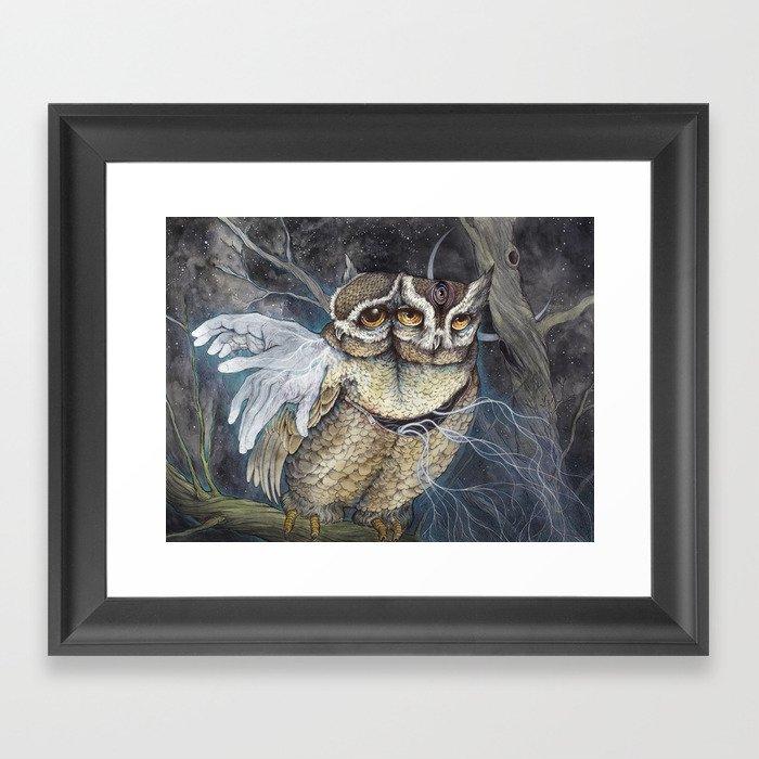 the Sleepless Night Framed Art Print