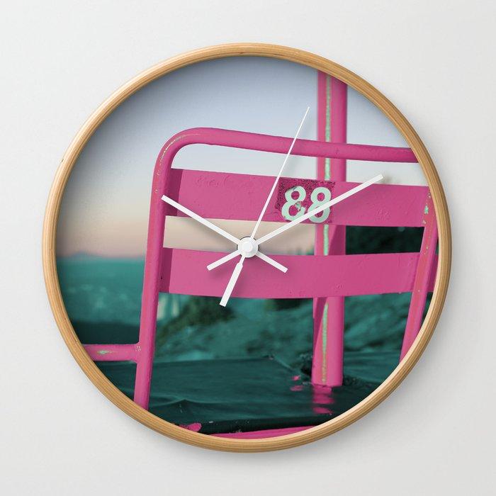 Pop Art 80's Chair Lift Wall Clock
