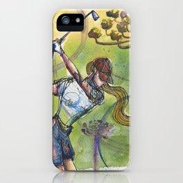 wonder shot golfer gof iPhone Case