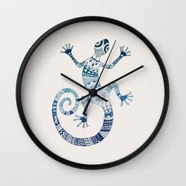 Blue Gecko Wall Clock