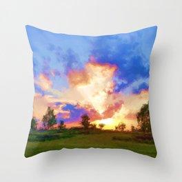 scarlet sky Throw Pillow