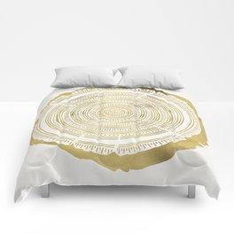Douglas Fir – Gold Tree Rings Comforters