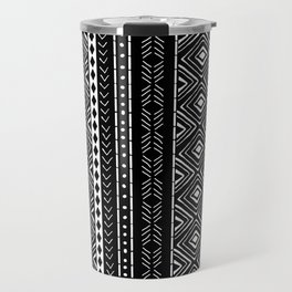 Black Mudcloth Travel Mug