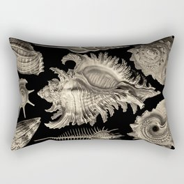 Ernst Haeckel Prosobranchia Sea Shells Rectangular Pillow