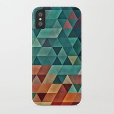 Teal/Orange Triangles Slim Case iPhone X