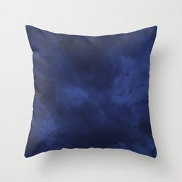 Dark blue clouds Throw Pillow