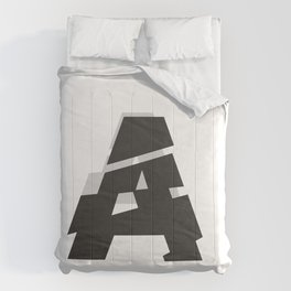 Cutted Typography Comforters