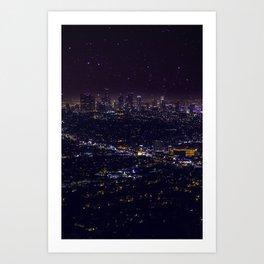 Stars Over Los Angeles II Art Print