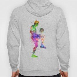 man soccer football player silhouette Hoody
