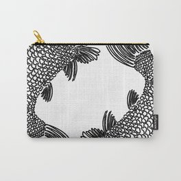 Pisces Koi Fish Print Carry-All Pouch