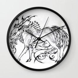 Calligraphy Kirin Wall Clock