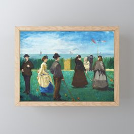 Edouard Manet - The Croquet Party - Digital Remastered Edition Framed Mini Art Print