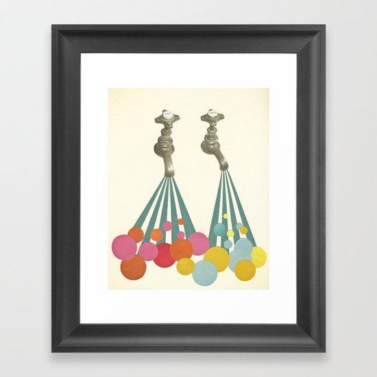 Soapsuds Framed Art Print