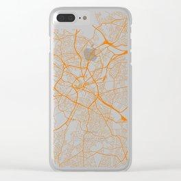 Street MAP Birmingham // Orange Clear iPhone Case