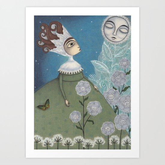 Soon, soon, Winter Moon! Art Print