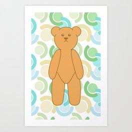 Tedy Bear Bonanza - Green Art Print