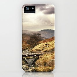 Wooden bridge on the Pass. iPhone Case