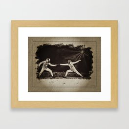 The World Cup Women's foil in Marseille  Framed Art Print