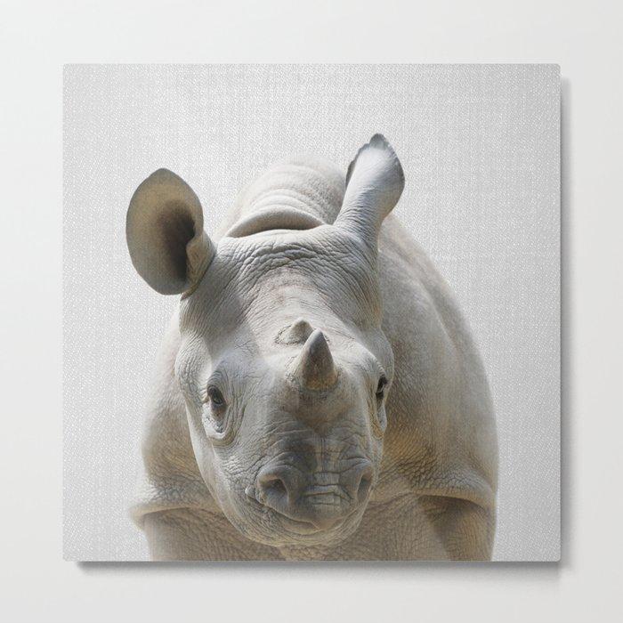 Baby Rhino - Colorful Metal Print
