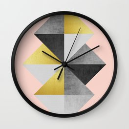 Fasion and golden lozenges II Wall Clock