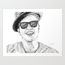 BrunoMars - Word Art Art Print