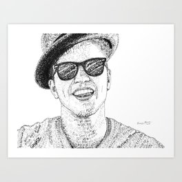BrunoMars - Word Art Art Print