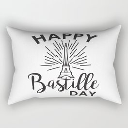 Shining Eiffel Tower the symbol of France - Bastille Day Rectangular Pillow