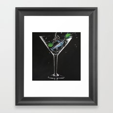 Marlin Martini Glass Framed Art Print